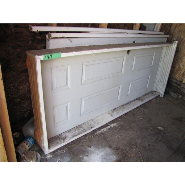 lot with metal clad man door 32 x 80 and two garden patio doors 36 by 80