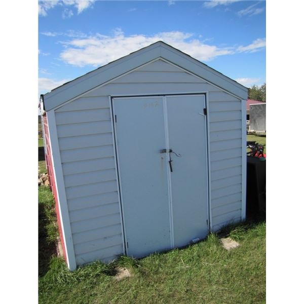 garden shed 8 foot by 10 foot - as is