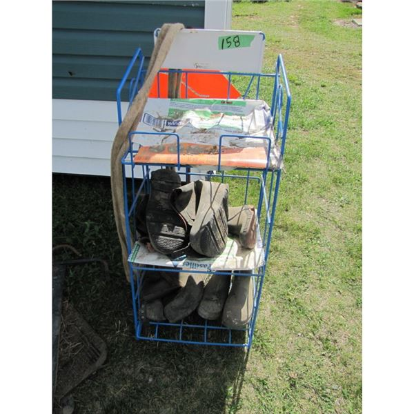 display rack with boots