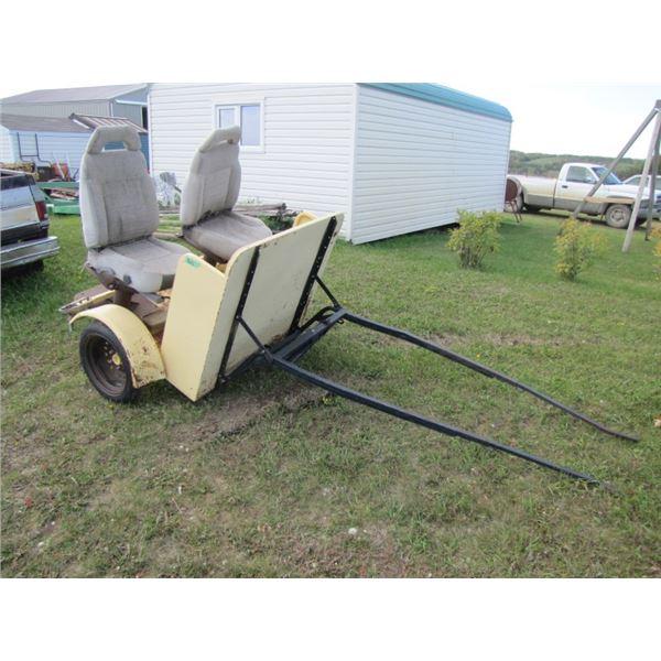 horse breaking cart
