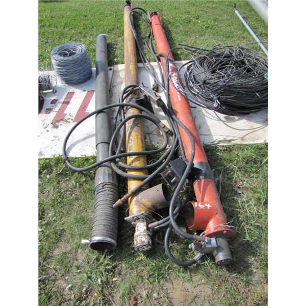 lot of two hydraulic augers