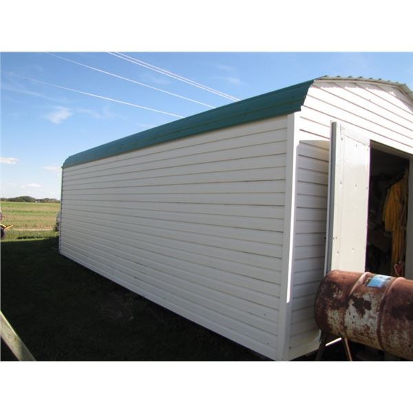 24 ft x 14 ft insulated garden shed on skids