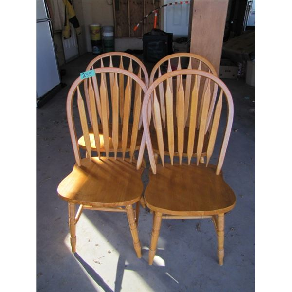 four chairs with turned legs
