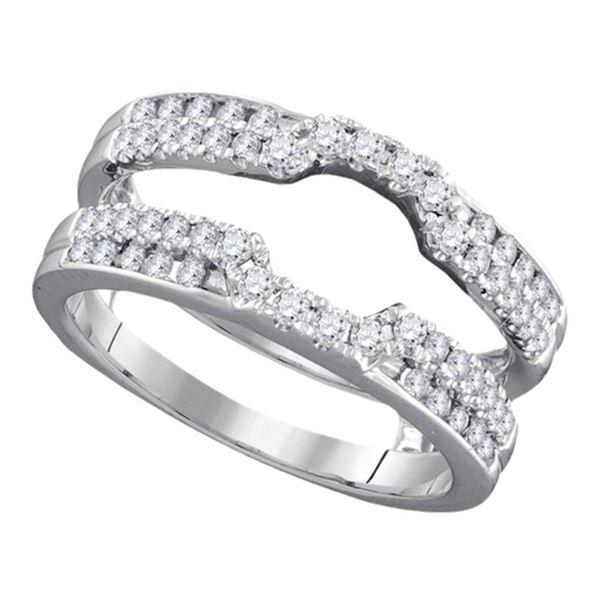 Round Diamond Solitaire Enhancer Wedding Band 1/2 Cttw 14KT White Gold