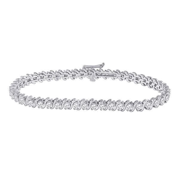 Round Diamond Classic Tennis Bracelet 4 Cttw 14KT White Gold