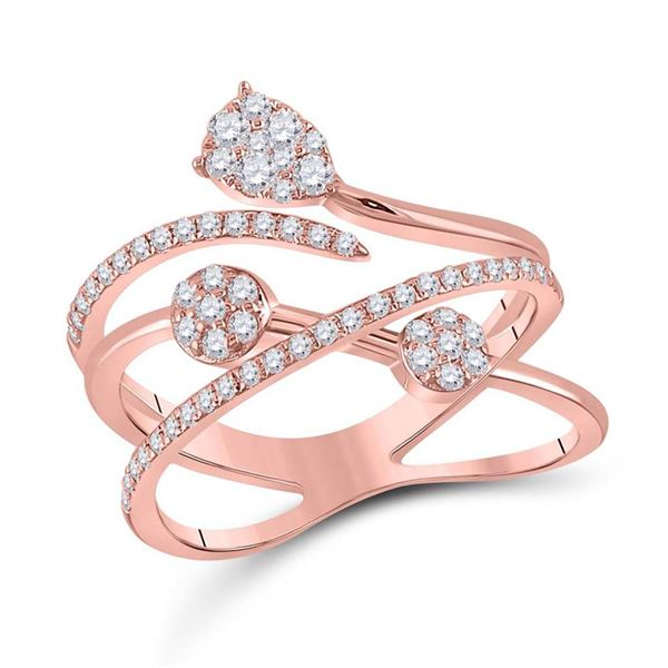 Round Diamond Abstract Fashion Ring 1/2 Cttw 14KT Rose Gold