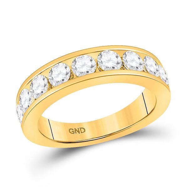 Round Diamond Wedding Single Row Band 1-3/4 Cttw 14KT Yellow Gold