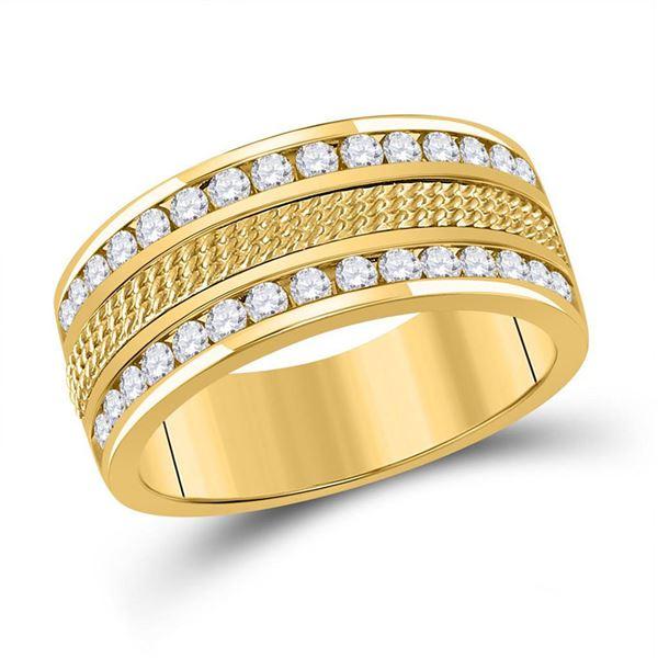 Round Diamond Wedding Band Ring 1 Cttw 14KT Yellow Gold