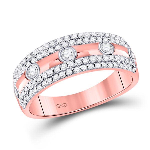 Round Diamond Anniversary Ring 1/2 Cttw 10KT Rose Gold