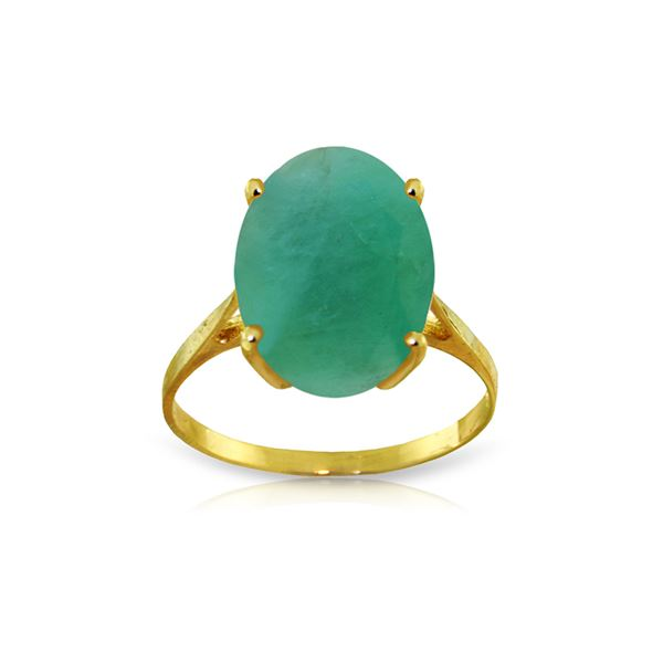 Genuine 6.5 ctw Emerald Ring 14KT Yellow Gold - REF-94W4Y