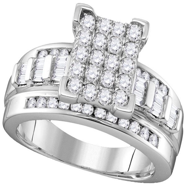 Diamond Bridal Wedding Engagement Ring 2 Cttw 10KT White Gold