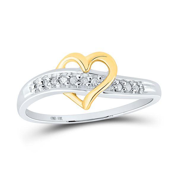 Round Diamond Heart Ring 1/20 Cttw 10KT White Gold