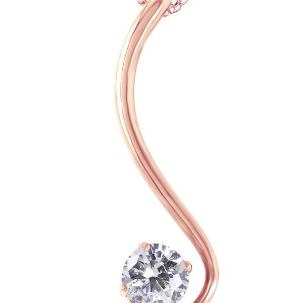 Genuine 0.50 ctw Diamond Anniversary Necklace 14KT Rose Gold - REF-137V9W