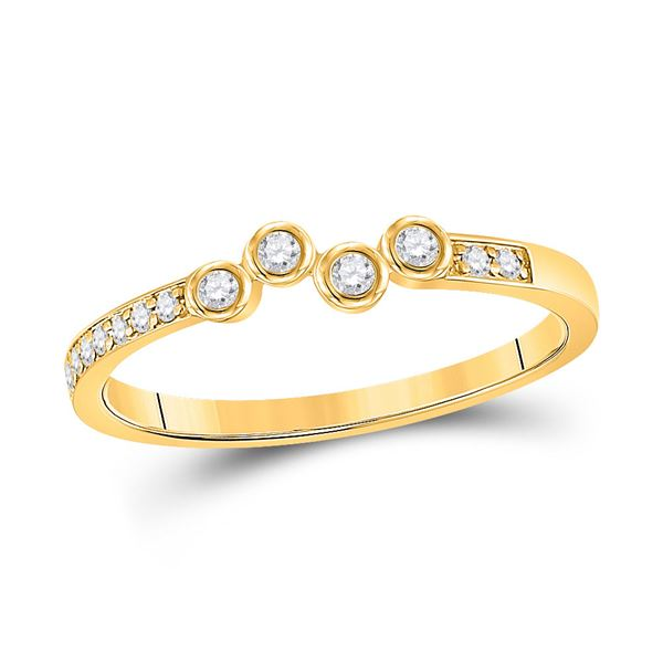 Round Diamond Stackable Band Ring 1/5 Cttw 10KT Yellow Gold