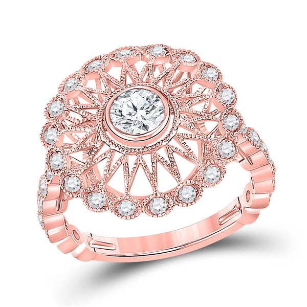 Diamond Solitaire Bridal Wedding Engagement Ring 1 Cttw 14KT Rose Gold