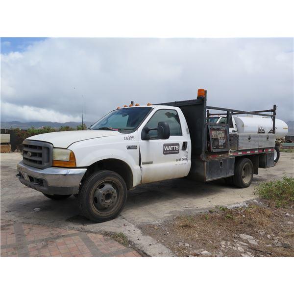 2000 Ford F-550 Work Truck, Powerstroke V8 Diesel w/ Generator & Job Boxes (Starts & Runs See Video)