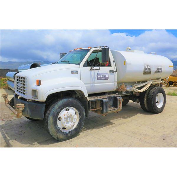1998 GMC C7500 Water Truck (Starts & Runs, See Video)