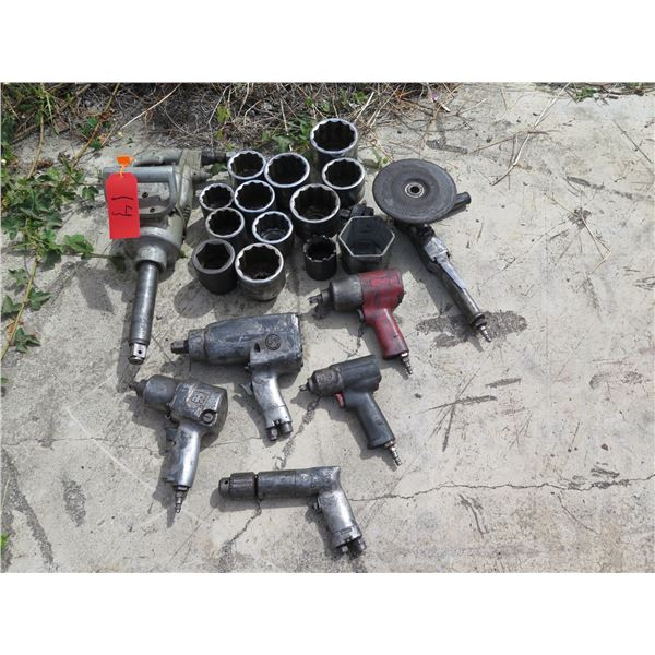 Pneumatic Air Tools - Impact Wrenches , Grinder , Sockets