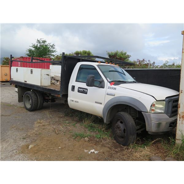 Ford F-450 Work Truck, Power Stroke V8 Diesel /w Job Boxes (Does Not Start)