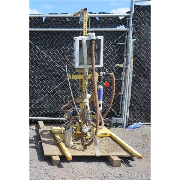 Mobile Pump w/ King Instruments & Laser Film