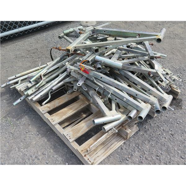 """Qty Approx. 20 """"A"""" & 10 Straight Metal Parts Capacity to 3500 Pounds"""
