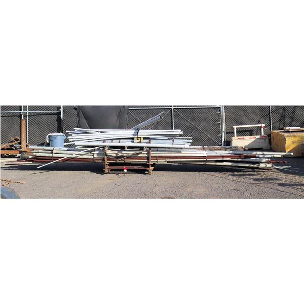 Pallet Misc Pipe: Galvanized, PVC, Steel - Misc Diameter & Lengths to 300 L