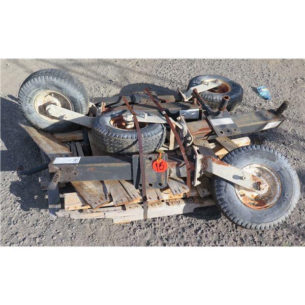 Qty 4 Load Star Tires DOT K3A4 Y08 w/ Frame Mount