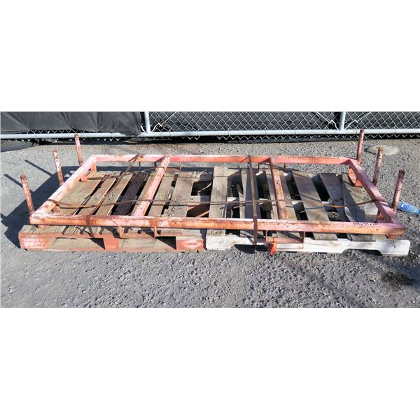 """Metal 2 Section Fork-Liftable Pipe Rack ? 88"""" x 44"""" x 16""""H"""