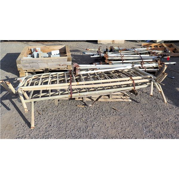 Multiple Metal Safety Barriers, Bases, Support Posts w/ Springs ?, etc