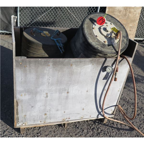 "Cheme Industries 20""-40"" Pneumatic & Muni-Ball Plugs, Air Hoses, Gauges, etc"