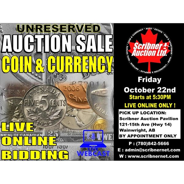 CATALOG COMING SOON : 3 DAY AUCTION ~ OCT 22-23-24 ~ 2021 LIVE ONLINE