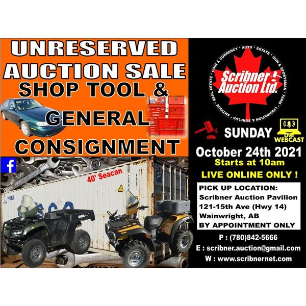 3 DAY AUCTION ~ OCT 22-23-24 ~ 2021 LIVE ONLINE