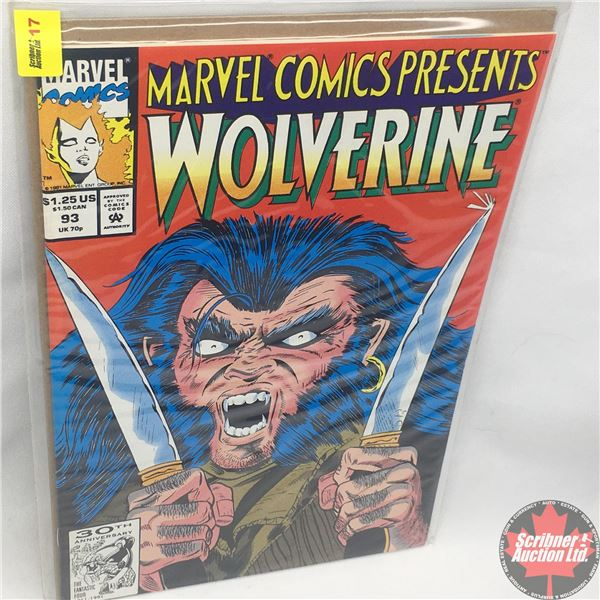 MARVEL COMICS PRESENTS: Wolverine Vol. 1, No. 93, 1991: Wolverine in Wild Frontier - Part One - Lost