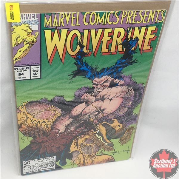 MARVEL COMICS PRESENTS: Wolverine Vol. 1, No. 94, 1991: Wolverine in Wild Frontier - Part Two - The