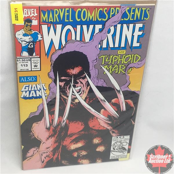 MARVEL COMICS PRESENTS: Wolverine and Typhoid Mary Vol. 1, No. 113, 1992: Typhoid's Kiss - Part 5 -