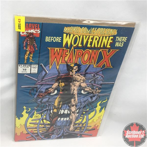 MARVEL COMICS PRESENTS: Before Wolverine There Was Weapon X : Vol. 1, No. 72, 1991:  Weapon X