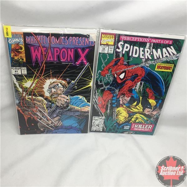 """Combo (2): MARVEL COMICS: """"Perceptions"""" Part 5 of 5 - Spider-Man - Vol. 1, No. 12, July 1991 - Stan"""