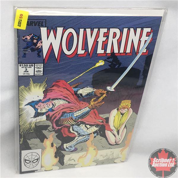 MARVEL: Wolverine 3, January 1989 : The Black Blade