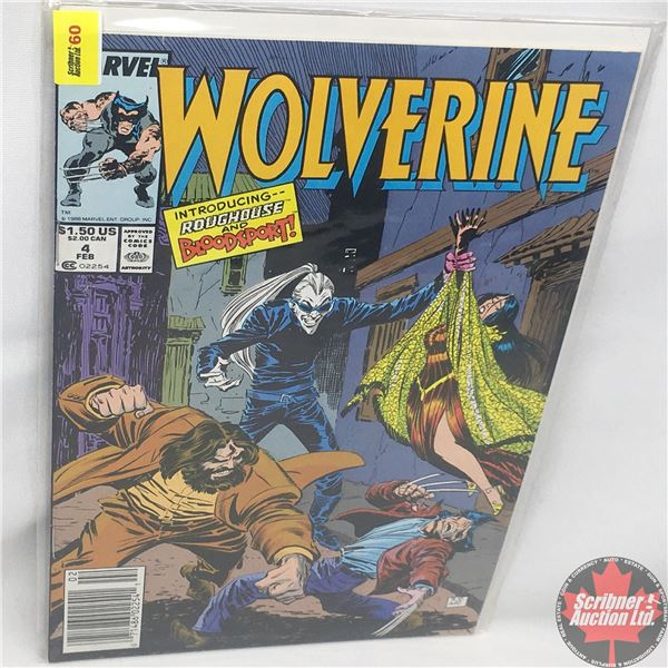 MARVEL: Wolverine 4, February 1989 : Introducing Roughouse and Bloodsport