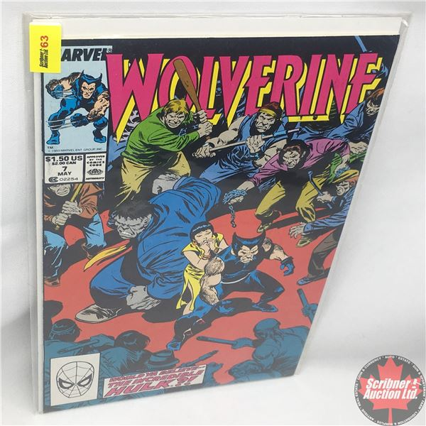 MARVEL: Wolverine 7, May 1989 : Stan Lee Presents: Mr. Fixit Comes to Town