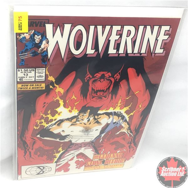 MARVEL: Wolverine 13, Early October 1989: The Gehenna Stone Affair - Part 3 of 6: Blood Ties