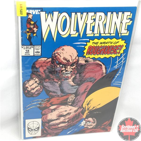 MARVEL: Wolverine 18,  December 1989: The Wrath of Roughouse - Stan Lee Presents: Lost at Sea