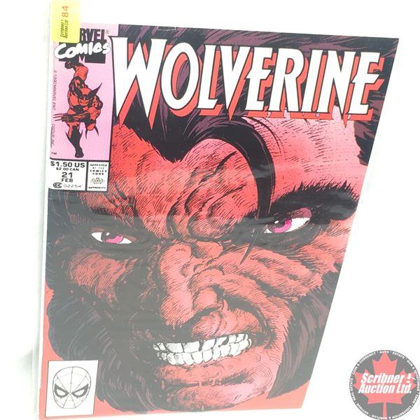 MARVEL: Wolverine 21, February 1990:  Stan Lee Presents: Battleground