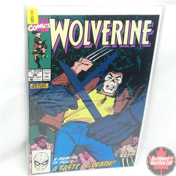 MARVEL: Wolverine 26, Mid July 1990:  Memory of Peace