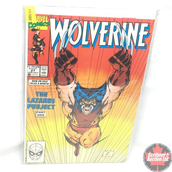 MARVEL: Wolverine 27, Late July 1990:  The Lazarus Project - Part One - Predator's and Prey