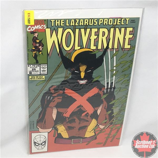 MARVEL: Wolverine 29, Late August 1990:  The Lazarus Project - Part Three - The Road Back