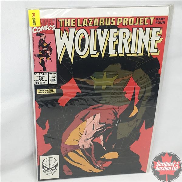 MARVEL: Wolverine 30, Early September 1990:  The Lazarus Project - Part Four - Conclusion - Family M