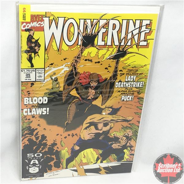 MARVEL: Wolverine 35, January 1991: Blood and Claws - Stan Lee Presents:  Blood, Sand and Claws