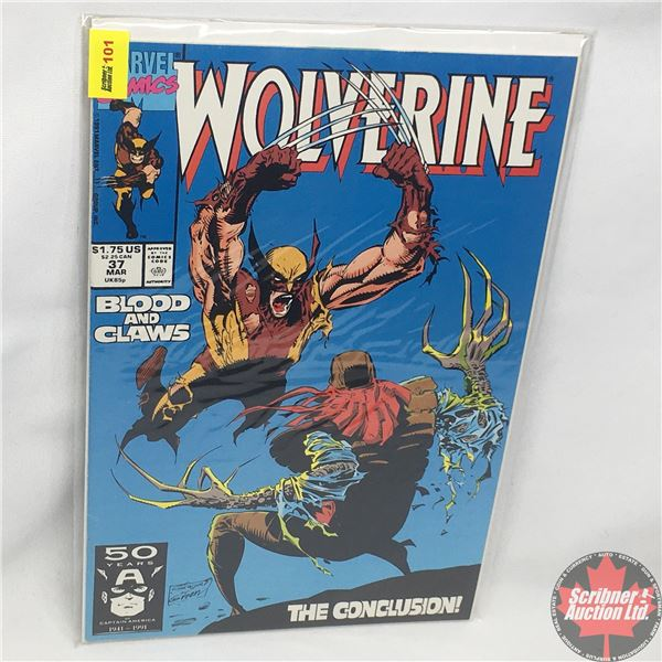 MARVEL: Wolverine 37,  March 1991: Blood and Claws -Conclusion - Stan Lee Presents:  Fall Back & Spr
