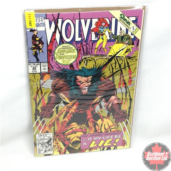 MARVEL: Wolverine 49, December 1991: Guest Starring Jean Gray and Professor X - Dreams of Gore: Phas